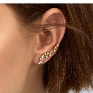 BaubleBar Farrah Crystal Ear Crawlers